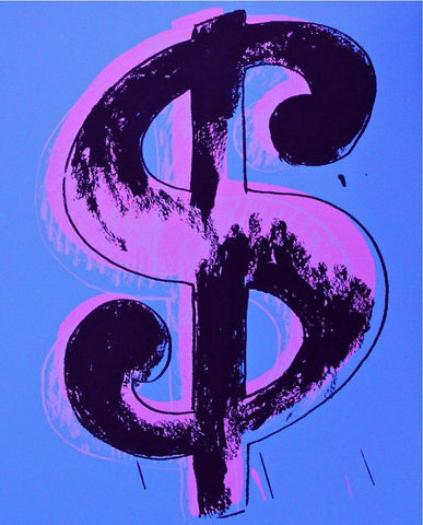 Dollar Sign Blue (Sunday B. Morning), Ltd Ed Silk-screen, Andy Warhol - Fine Artwork