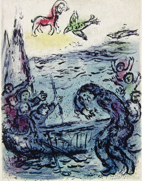 Ulysses and His Companions (The Odyessy) 1989, Ltd Ed Lithograph, Marc Chagall - Fine Artwork
