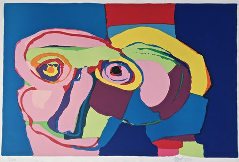 Dream Colored Head, 1970 Limited Edition Silkscreen, Karel Appel
