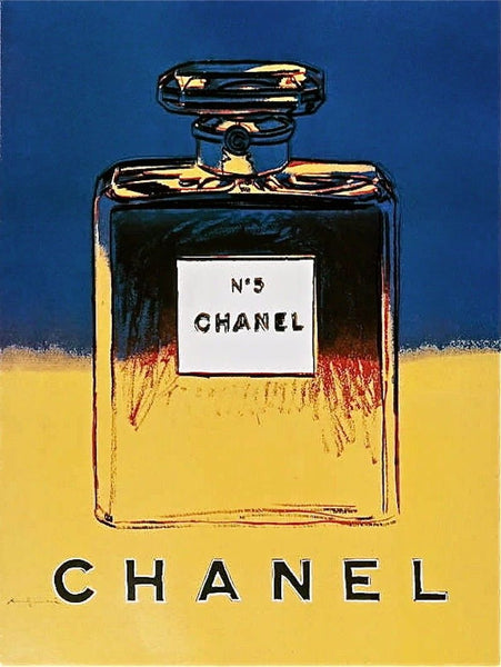 Chanel Yellow & Blue Offset Litho on Paper Mounted on Canvas Andy Warhol - Fine Artwork