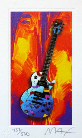 Rock N' Roll Guitar III, Limited Edition Lithograph, Peter Max - Fine Artwork