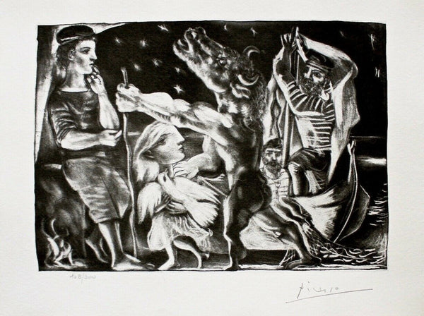 Blind Minotaur Led by Girl in Night w/ Dove, Ltd Ed Litho, Picasso-Vollard