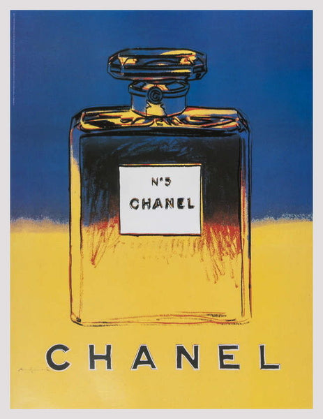 Chanel (Blue & Yellow), Offset Lithograph on Canvas, Andy Warhol - Fine Artwork