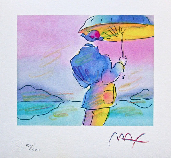 Umbrella Man by Peter Max - Fine Artwork