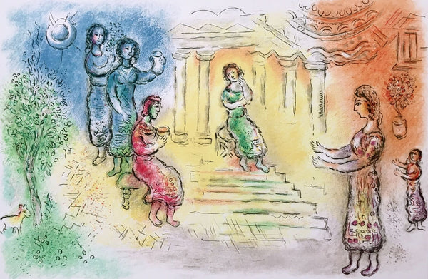 Ulysses at Alcinous' Palace, 1989 Limited Edition Lithograph, Marc Chagall