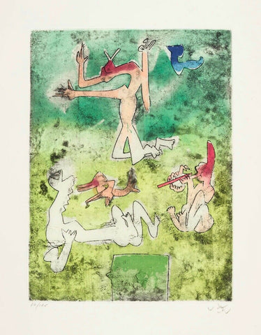 Centre Noeuds (Plate #10) 1974 Limited Edition Etching & Aquatint, Roberto Matta