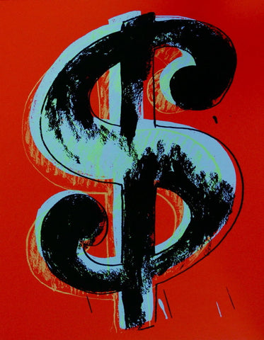 Dollar Sign Red (Sunday B. Morning), Ltd Ed Silk-screen, Andy Warhol - Fine Artwork