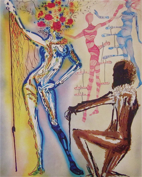 The Ballet of the Flowers, Ltd Ed Lithograph, Salvador Dali, First Edition Print - Fine Artwork