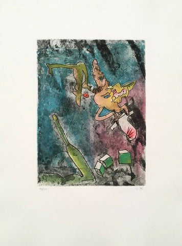 Centre Noeuds (Plate #7), 1974 Limited Edition Etching & Aquatint, Roberto Matta