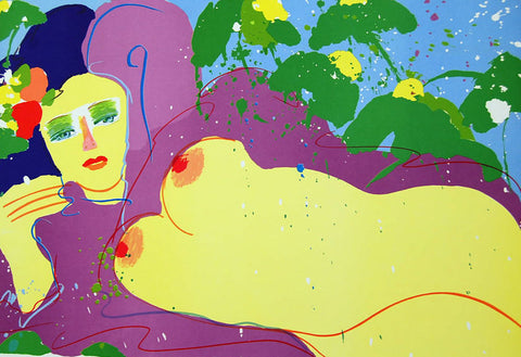 Grape Flavor, Limited Edition Lithograph, Walasse Ting - Fine Artwork