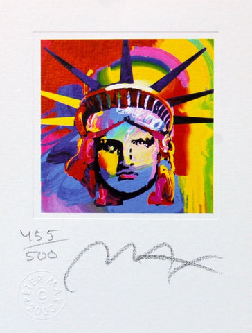 Liberty Head VIII (mini), Limited Edition Lithograph, Peter Max - Fine Artwork