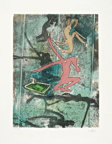 Centre Noeuds (Plate #4), 1974 Limited Edition Etching & Aquatint, Roberto Matta