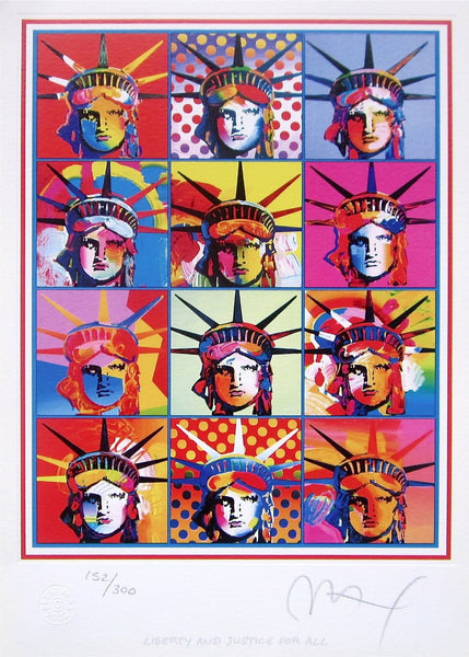 Liberty & Justice for All by Peter Max - Fine Artwork