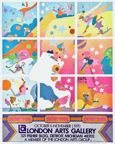 London Arts Gallery 1970 Vintage Poster, Peter Max