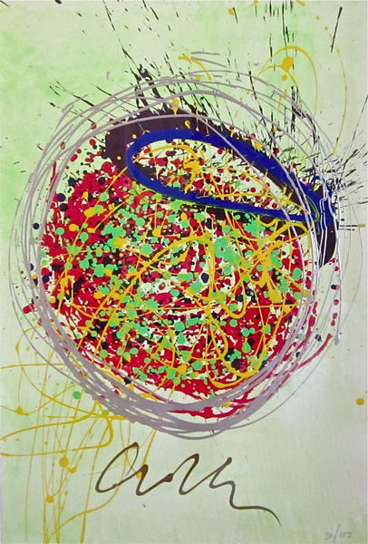 Confetti Blast Painting (Lithograph & Acrylic), Limited Edition, Dale Chihuly - Fine Artwork