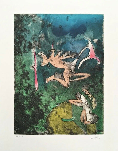 Centre Noeuds (Plate #1) 1974 Limited Edition Etching & Aquatint, Roberto Matta