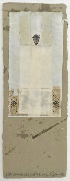 Shirtboard (Morocco), Limited Edition Mixed Media & Collage, Robert Rauschenberg