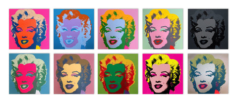 Marilyn Monroe Suite (Sunday B. Morning), 10 Silkscreens, Andy Warhol - Fine Artwork