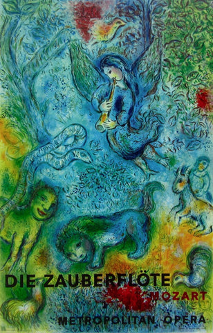 The Magic Flute (Die Zauberflote), 1973 Exhibition Poster, Marc Chagall - Fine Artwork