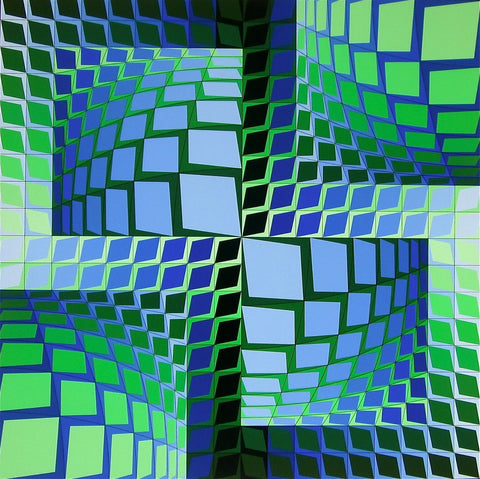 THEZ, Ltd Ed Silk-screen, Victor Vasarely - Fine Artwork