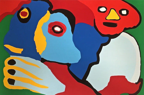 Moving in the Wind, 1974 Limited Edition Silkscreen, Karel Appel - Fine Artwork