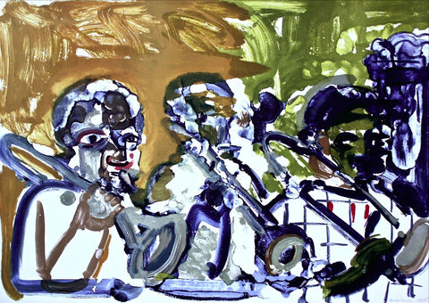 Brass Section, Limited Edition Lithograph, Romare Bearden - Fine Artwork