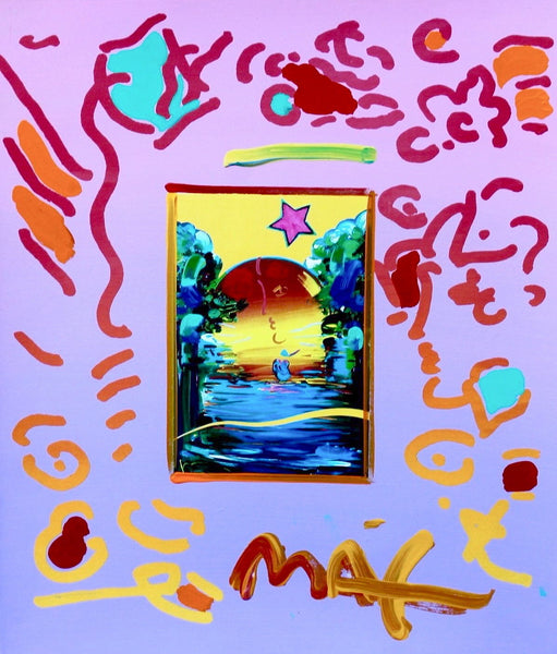 Better World, Original Mixed Media Painting, Peter Max - Fine Artwork