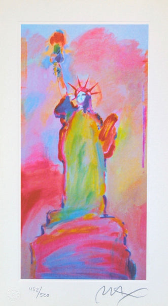 Statue of Liberty III, Limited Edition Lithograph, Peter Max - Fine Artwork