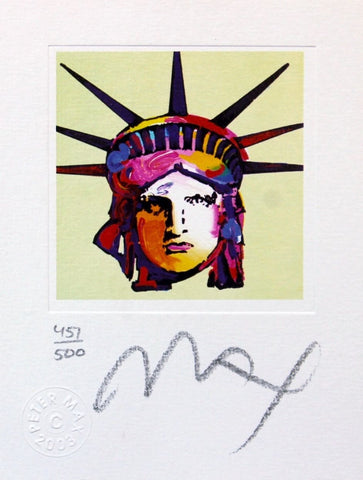 Liberty Head IX (mini), Limited Edition Lithograph, Peter Max - Fine Artwork
