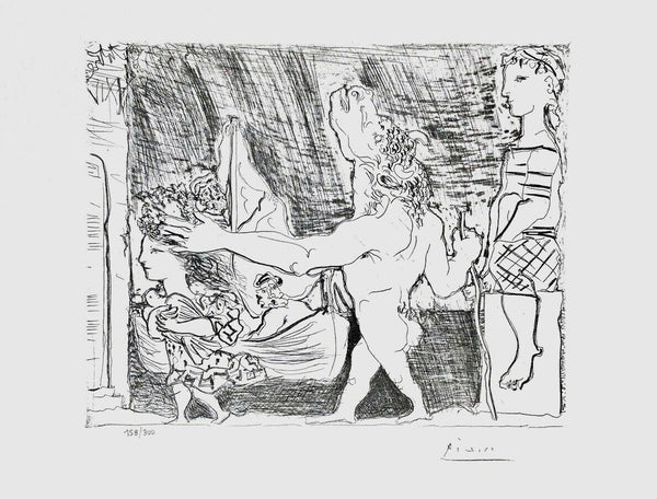 Blind Minotaur Led by Girl w/ Dove, Ltd Ed Lithograph, Pablo Picasso-Vollard