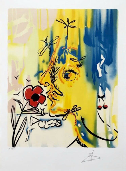 Vanishing Face, Limited Edition Lithograph, Salvador Dali