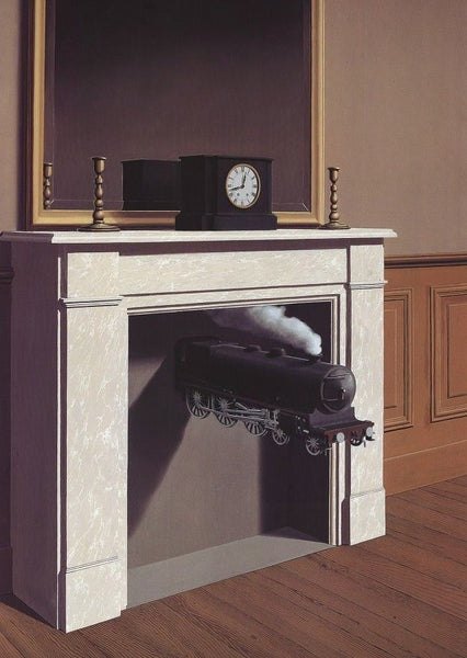 Time Transfixed (La Duree Poignardee), Offset Lithograph, Rene Magritte