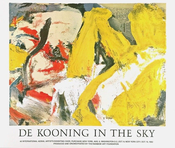 In the Sky, 1982 Exhibition Poster, Willem de Kooning