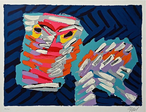 Sad Cat, Limited Edition Lithograph, Karel Appel - Fine Artwork