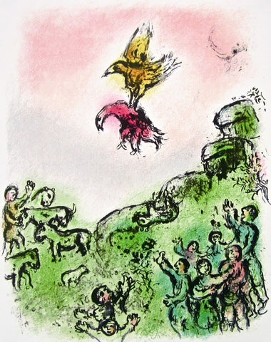 The Goshawk and the Dove (The Odyessy) 1989, Ltd Ed Lithograph, Marc Chagall - Fine Artwork