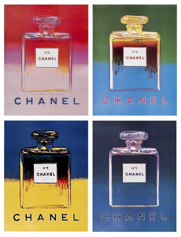 Chanel Suite, 4 Offset Lithographs Mounted on Canvas, Andy Warhol - Fine Artwork