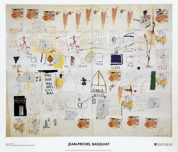 Icarus, 2002 Exhibition Poster, Jean-Michel Basquiat
