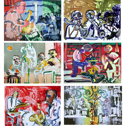 Jazz Suite (Music), 6 Limited Edition Lithographs, Romare Bearden - Fine Artwork