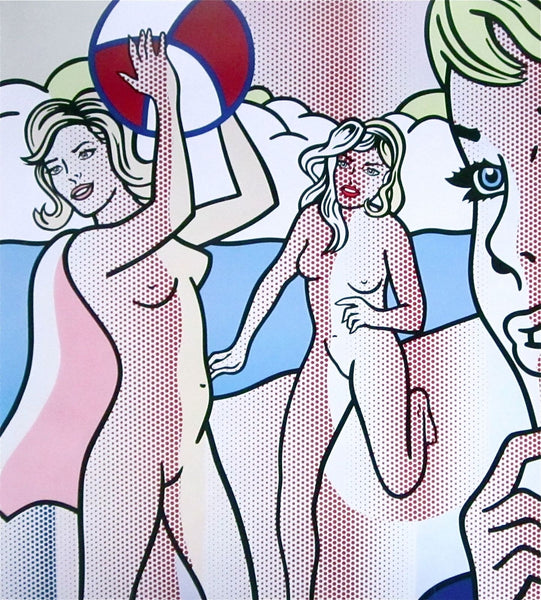 Nudes with Beach Ball, Silk-screen, Roy Lichtenstein - Fine Artwork