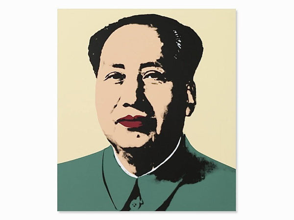 Mao (natural) Sunday B. Morning, Silk-screen, Andy Warhol - with COA - Fine Artwork