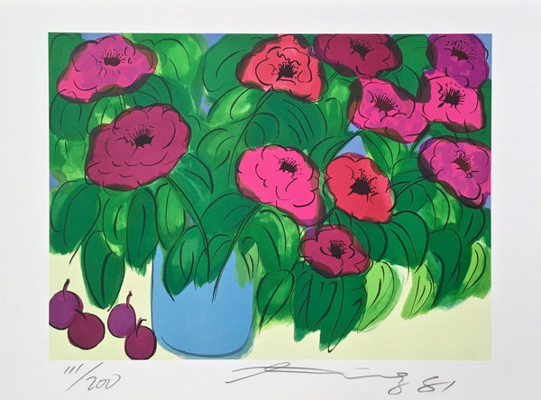 Flowers, Limited Edition Lithograph, Walasse Ting