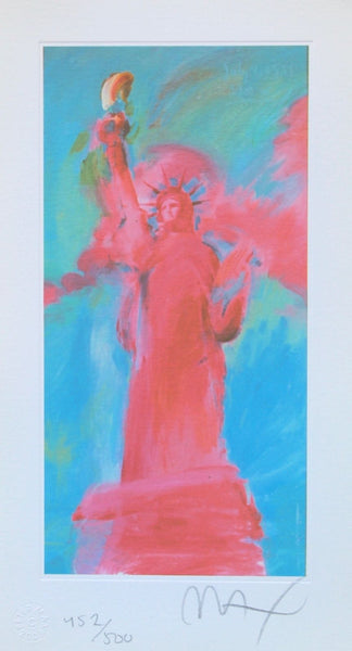 Statue of Liberty V, Limited Edition Lithograph, Peter Max - Fine Artwork