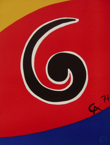 Sky Swirl (Flying Colors), 1974/75 Limited Edition Lithograph, Alexander Calder - Fine Artwork