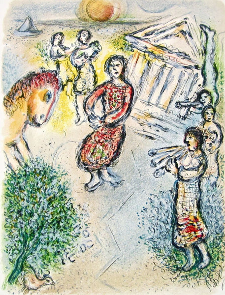 Preparation for the Candidate's Feast (The Odyessy) 1989, Ltd Ed, Marc Chagall - Fine Artwork