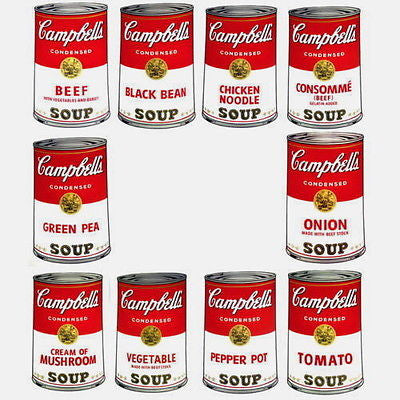 Campbell's Soup-Series I Suite (Sunday B. Morning) - Andy Warhol - Fine Artwork