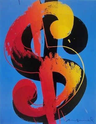 Dollar Sign, Offset Lithograph, Andy Warhol - Fine Artwork