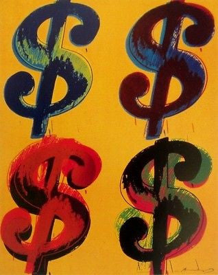 Dollar Sign (Quad), Offset Lithograph, Andy Warhol