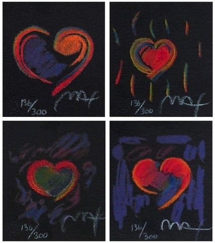Heart Suite III, Limited Edition Lithograph, Peter Max - Fine Artwork