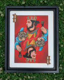 King of the Sound Wood Cut Painting w/ custom HIVE floating edge frame