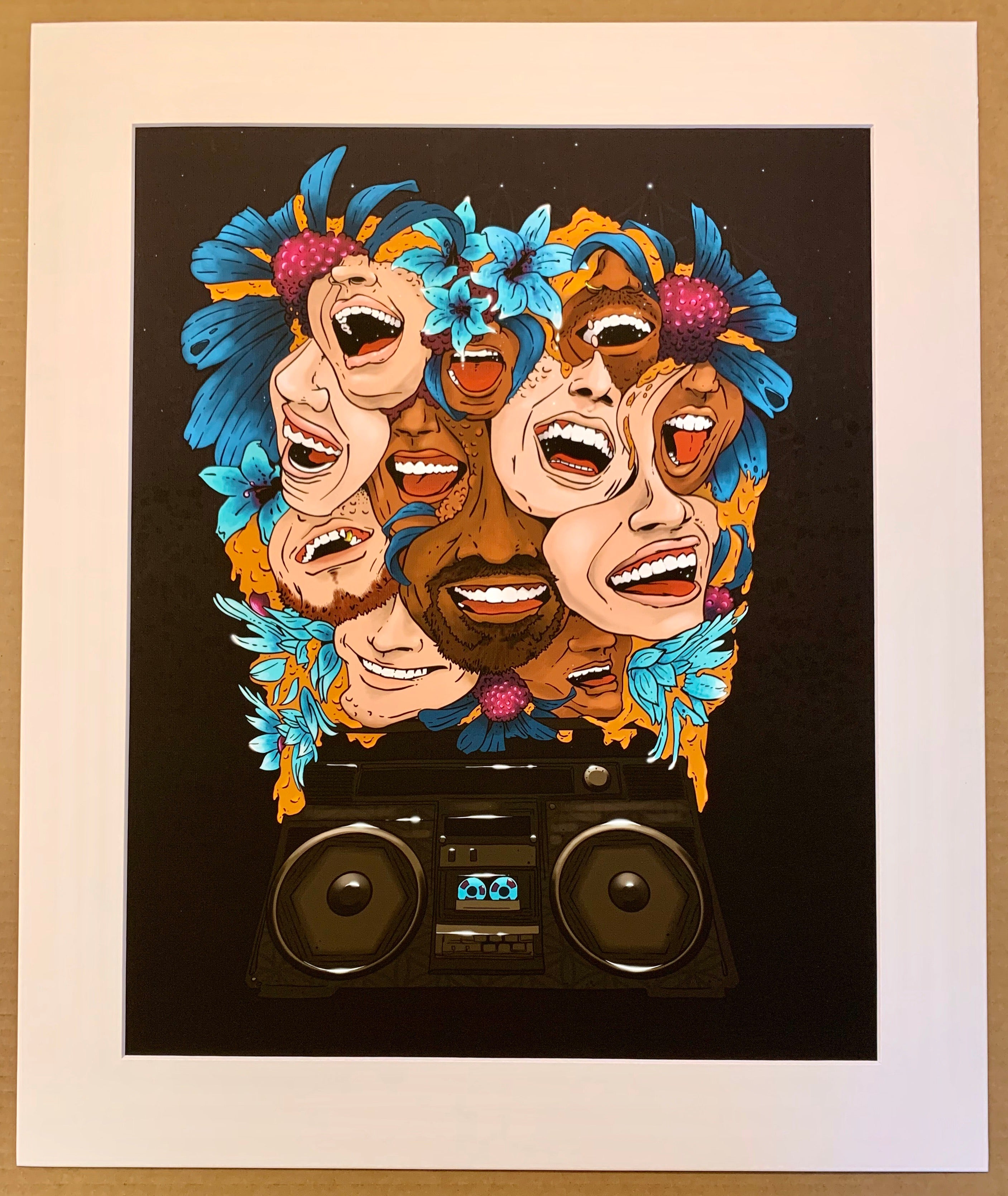 "Laughter Crescendo 2019 Remastered - 16""x20"" in 20""x24"" Matted/Sleeved - OPEN PREsale"